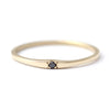 Black diamond wedding band
