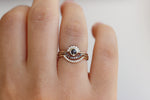Tiny Diamonds Ring On Finger