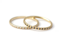 Full diamond eternity ring in 18k solid gold