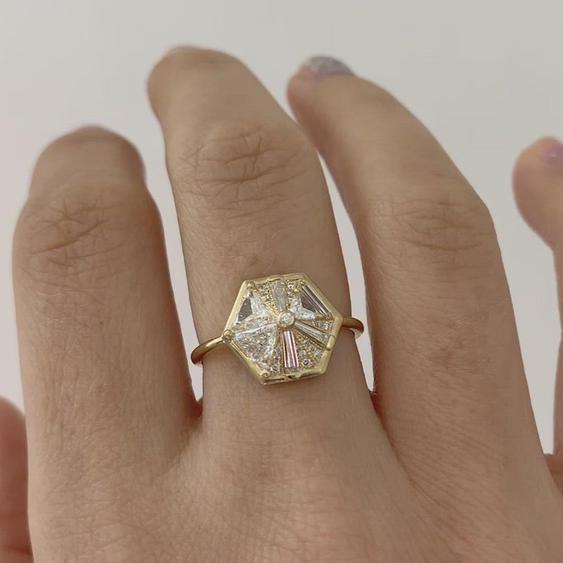Hexagon_Engagement_Ring_with_Cluster_of_Diamonds-video