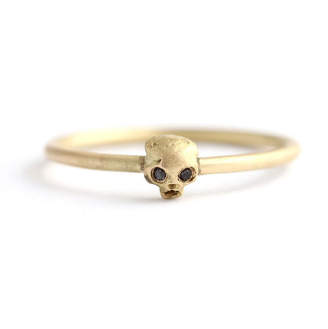 Gold Cat Skull Ring