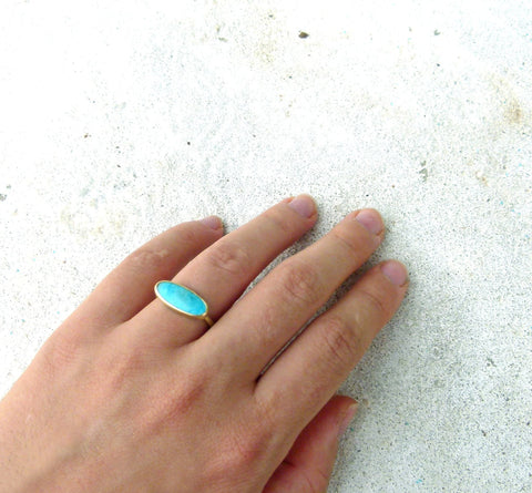 Turquoise Gold Band