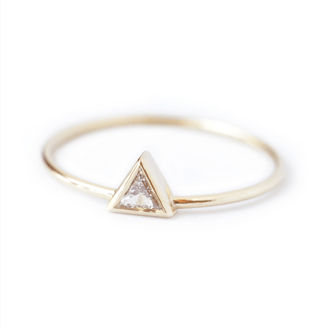 Triangle Diamond Ring - 0.10 Carat