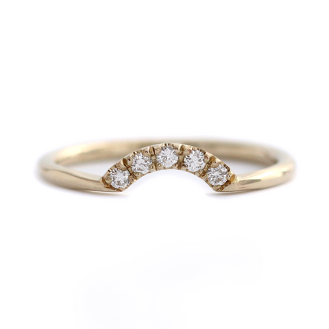 Diamonds Crown Wedding Ring