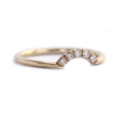 Tiny Diamonds Crown Ring