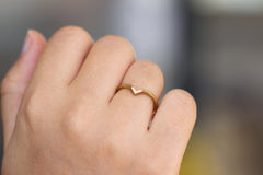 wedding gold ring on hand