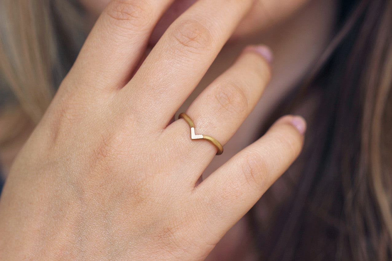 two tone wedding gold ring