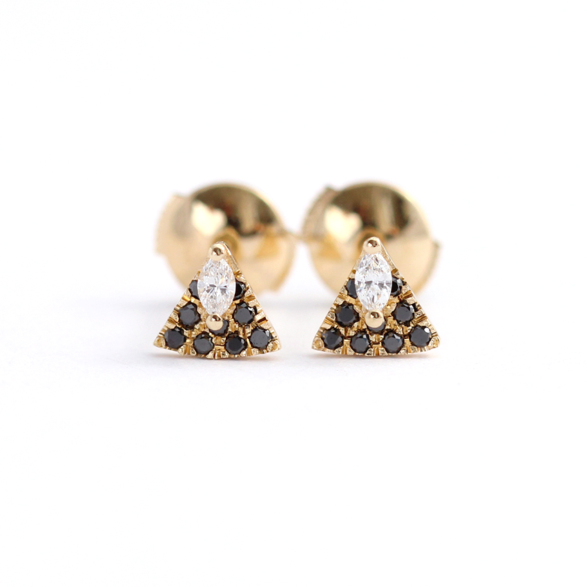Marquise Diamond Stud Earrings