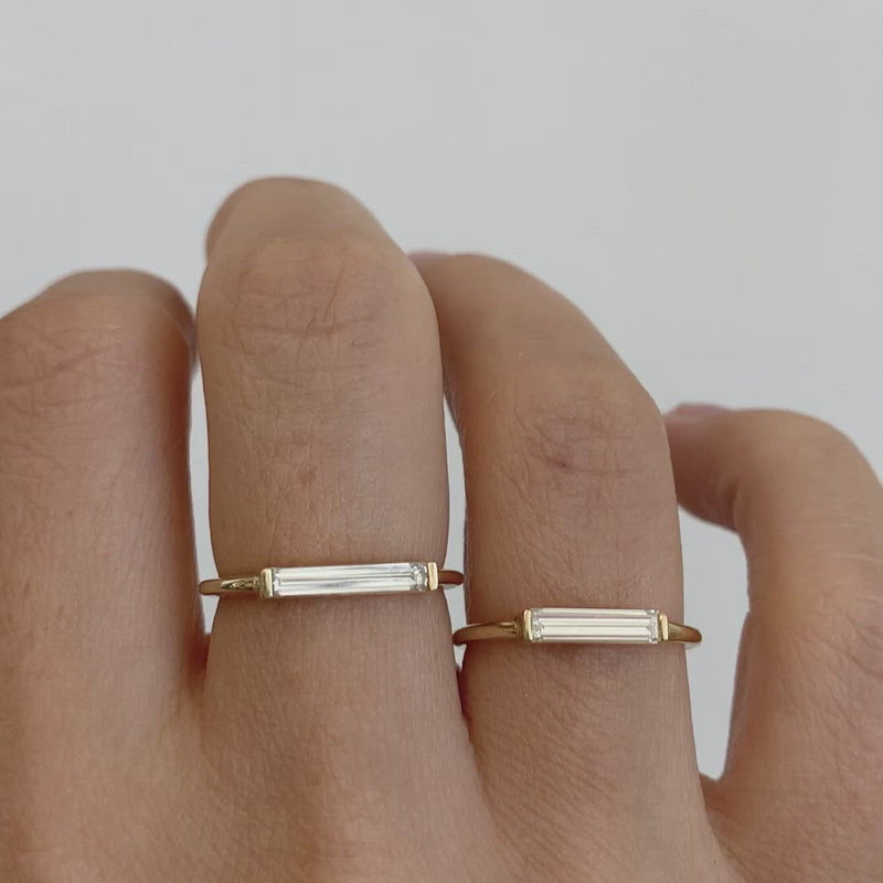 Minimalist-Diamond-Ring-Long-Baguette-Solitaire-Ring-OOAK-video