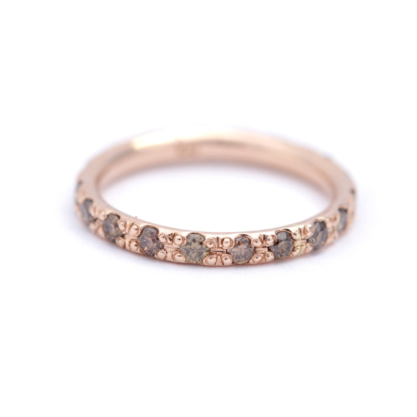 eternity ring with champagne diamonds