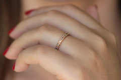 eternity ring with champagne diamonds for her