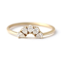 Pear diamond wedding ring
