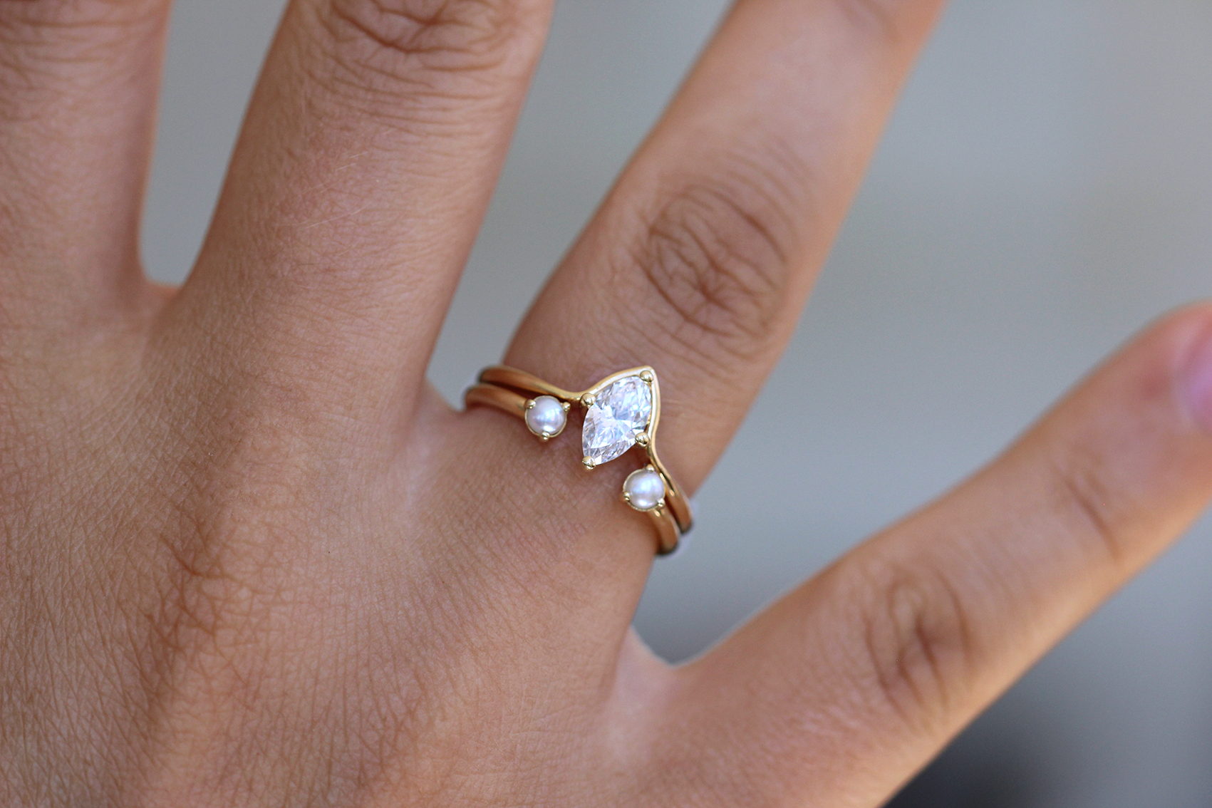 Superb Solitaire Marquise Diamond Engagement Ring