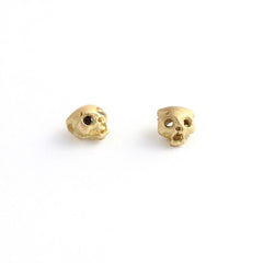 Cat skull earrings