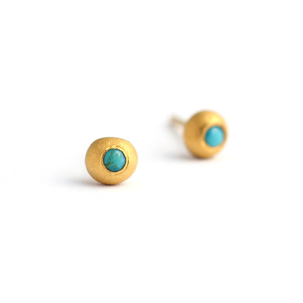 Tiny Turquoise Earrings