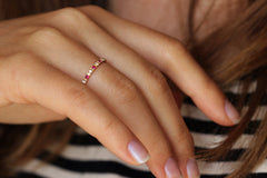 Eternity Ring with Diamonds and Rubies