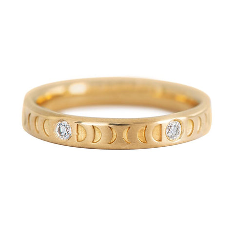 Moon Wedding Ring - Thick