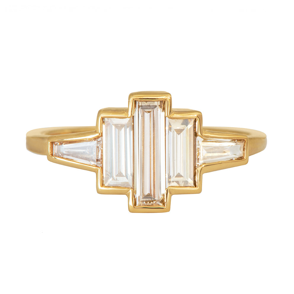 art deco baguette diamond ring