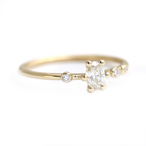 asymmetric diamond ring