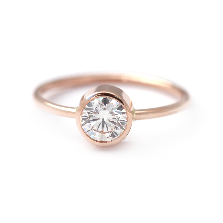 Round Diamond Engagement Ring 0.5 Carat