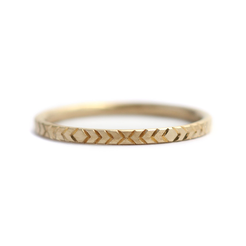 Geometric Wedding Ring