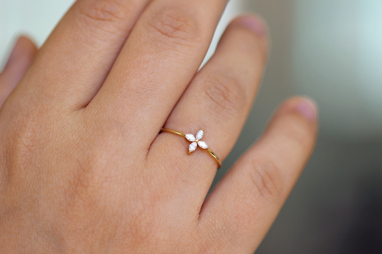 dainty thin rose rings gold diamond designs stacking engagement set band product ring sarah laurie prong wedding