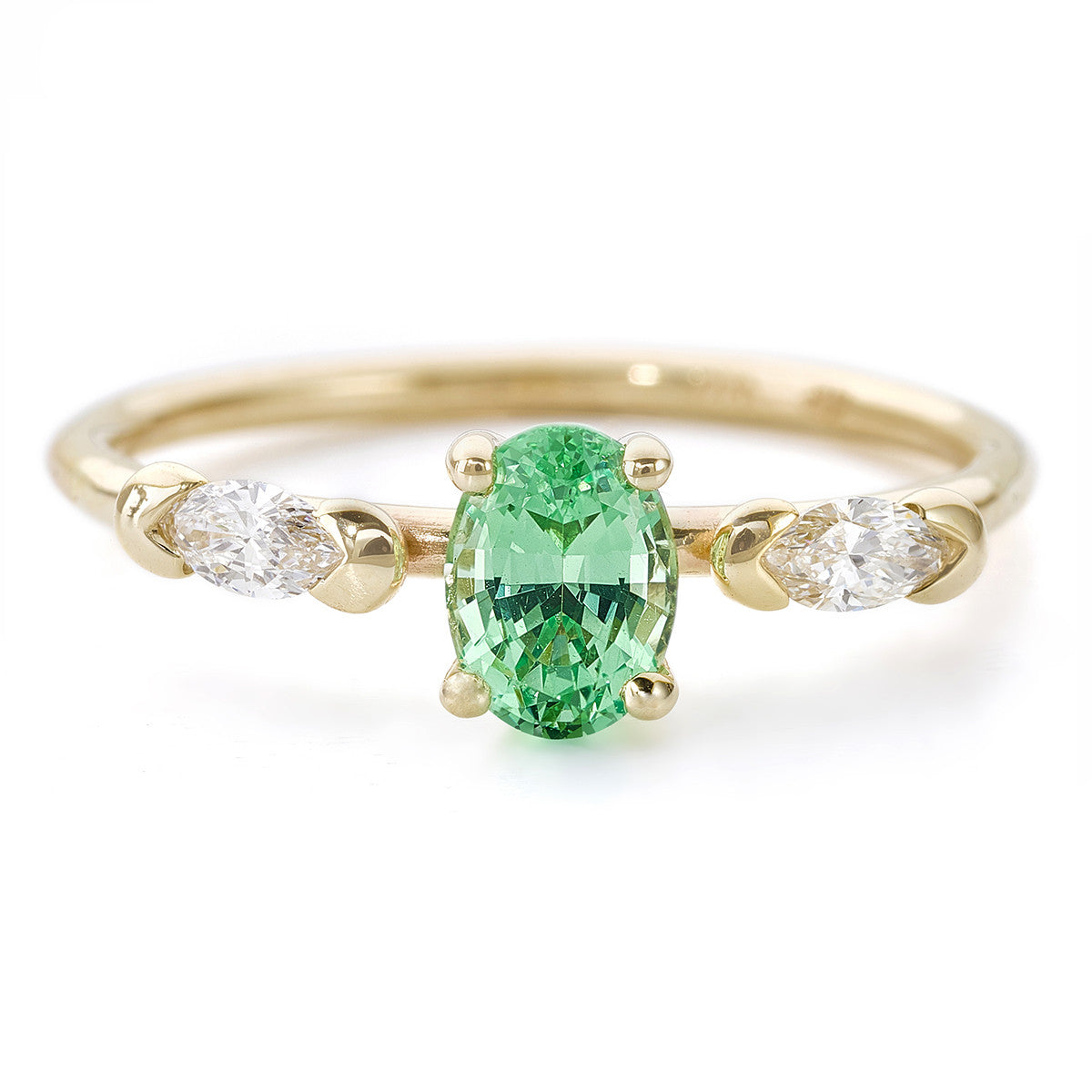 mint engagement ring