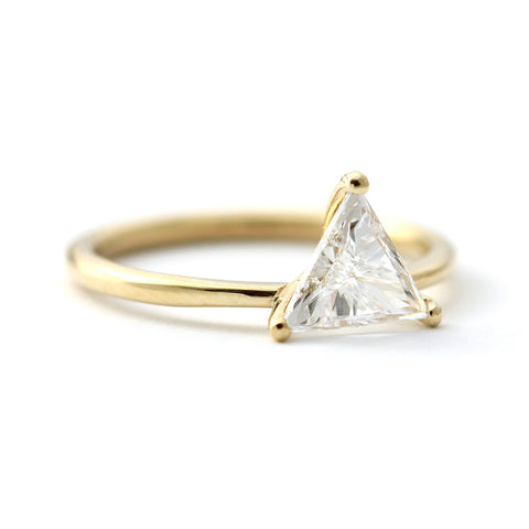 triangle engagement ring