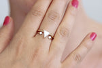 0.8 carat triangle diamond ring