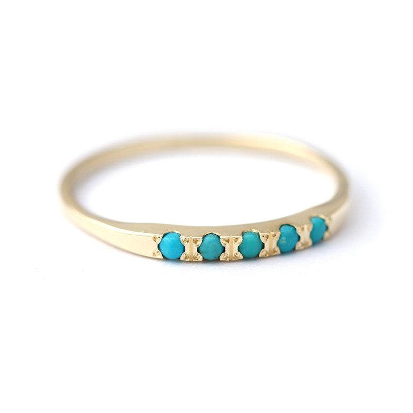 Pave Turquoise Ring