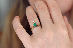 Pear Emerald Wedding Set