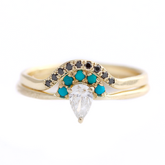 Diamond Turquoise Ring