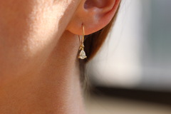 Dainty Hook Earrings On Ear