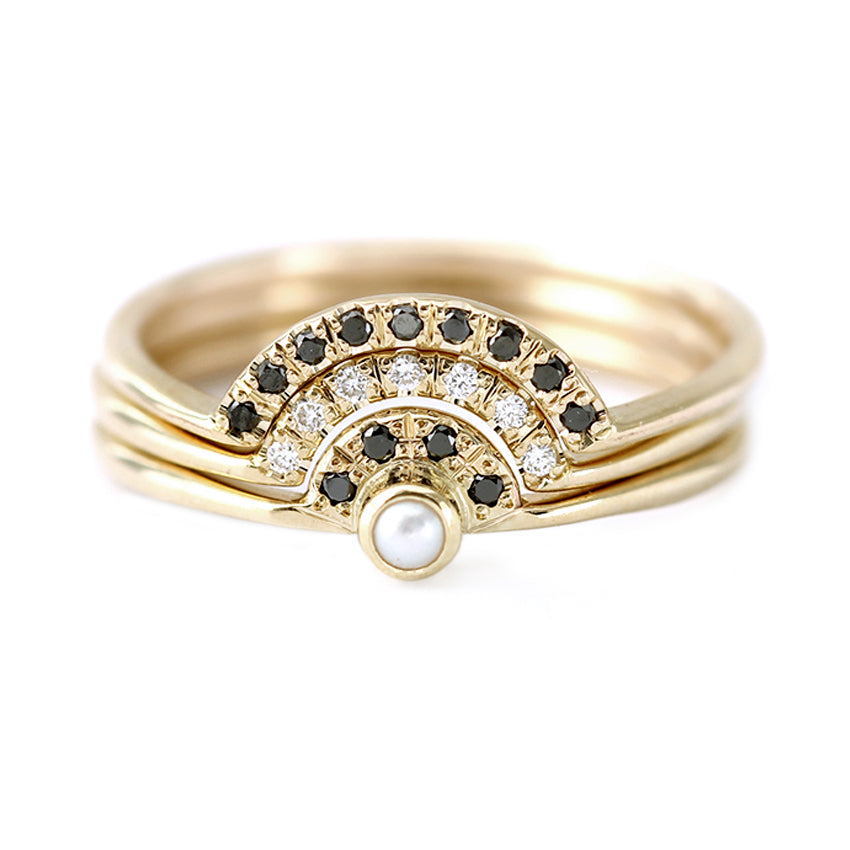 Pearl Wedding Ring: Pearl Engagement Ring With Diamonds