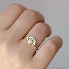 pear engagement ring set