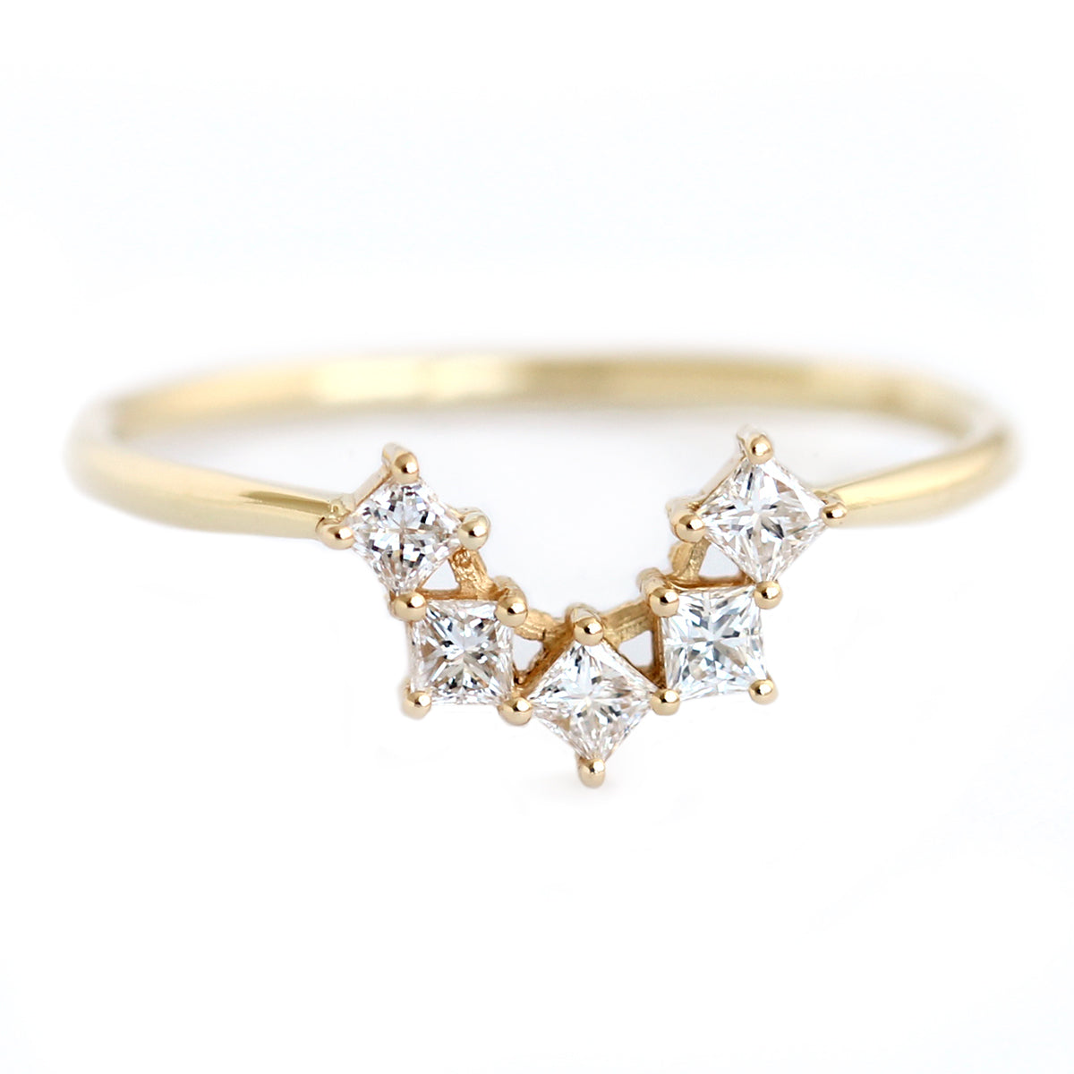 gold rose wedding morganite cut diamond engagement prong set claw rings princess ring