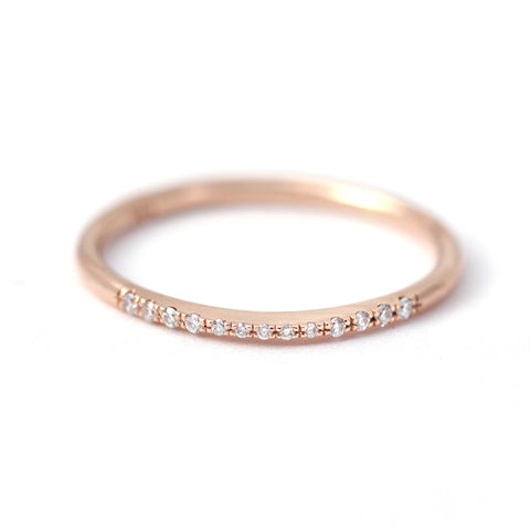 Tall Pave Diamond Ring