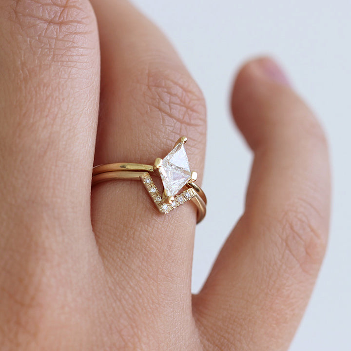 Geometrical Wedding Ring