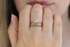 Seven Diamonds Ring on hand