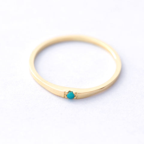 frontal view of Tiny Turquoise Ring