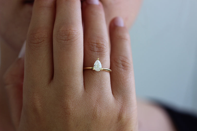 Prongs Ring On Finger