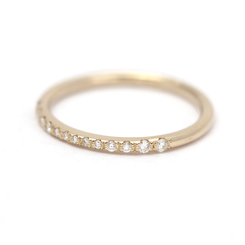 diamond gold cttw dp thin com pave band stackable white bands amazon