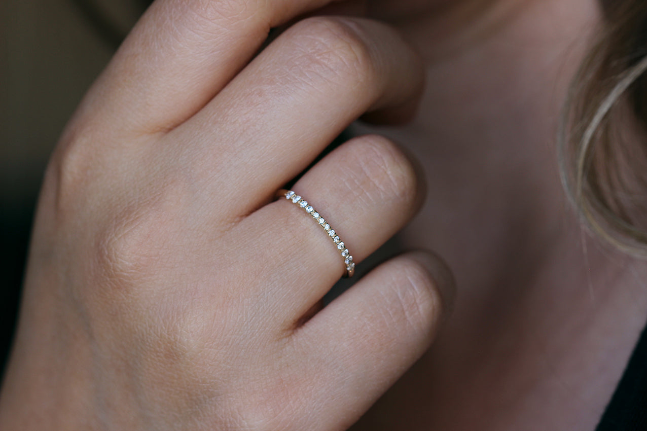 Half Eternity Band on finger