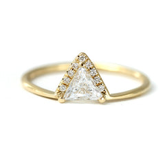 Triangle Diamond Crown Ring