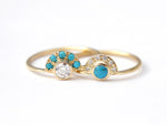 Turquoise and Diamond Engagement Rings