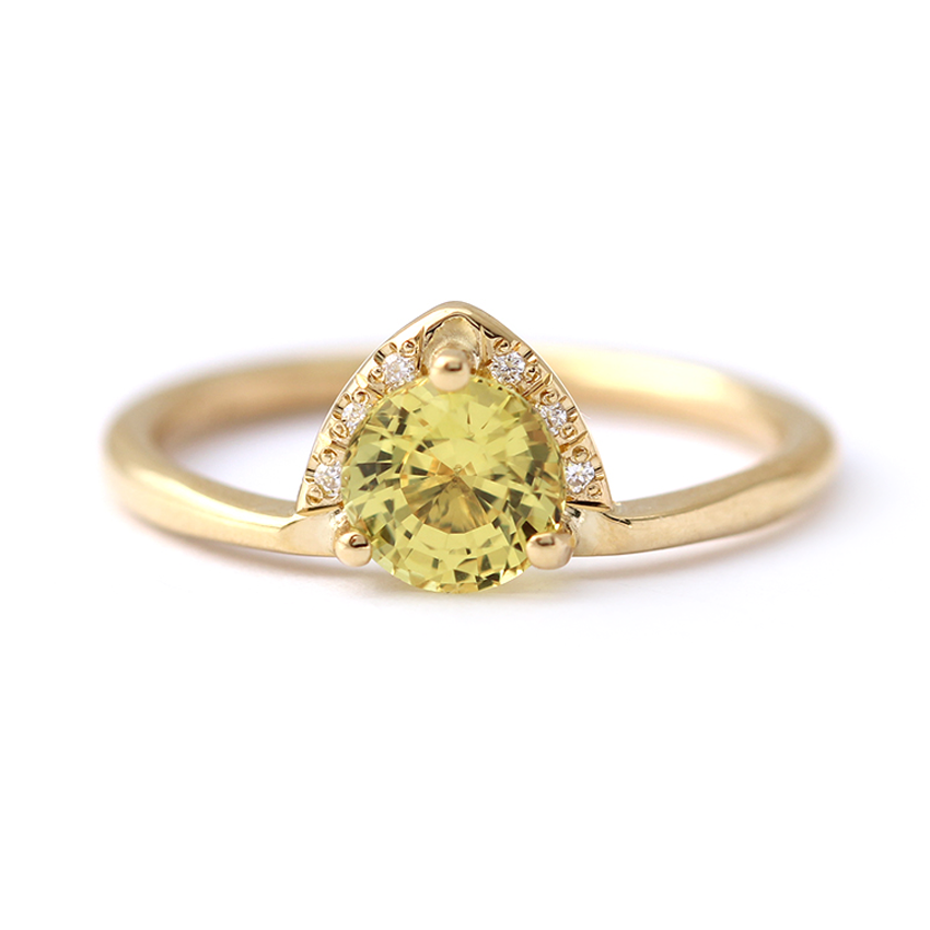 one carat Yellow Sapphire Ring