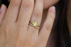 Yellow Sapphire Engagement Ring Set