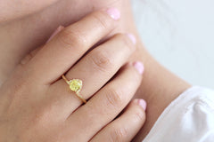 One carat yellow sapphire engagement ring