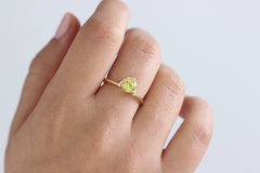 Yellow Sapphire Engagement Ring - Crown Engagement Ring