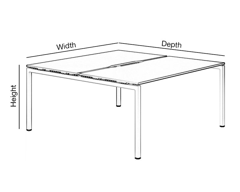 Back to Back Bench Desk Dimensions